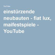 einstürzende neubauten - fiat lux, maifestspiele - YouTube