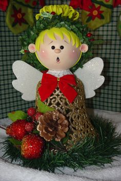 Christmas Angel Decoration by simplysweetgifts on Etsy, $15.99