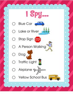 Darling Doodles: I Spy Travel Game-perfect for road trips!!!