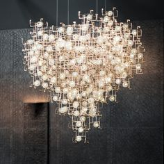 Here's Fragile Future Diamond Chandelier by Don't miss it out on our at Art Monte-Carlo from 30 April. Courtesy Carpenters Workshop Gallery by carpentersworkshopgallery Concrete Light, Dying Of The Light, Chandelier Lamp, Chandeliers, New Artists, Luxury Interior, Lamp Light, Lighting Design, Interior Inspiration