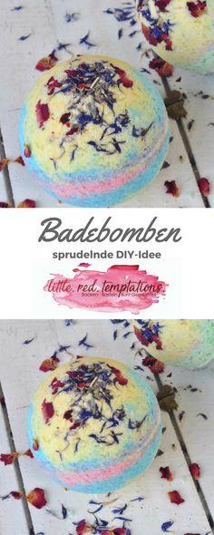 DIY-Anleitung für herrlich sprudelnde Badebomben: kinderleicht gemacht, wundervoll duftend und zart pflegend. Die Anleitung findest du auf meinem Blog.