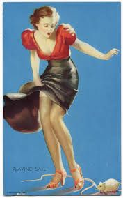 1940s Pinup dress (Gil Elvgren)  or well skirt and top.  #1940s #pinup