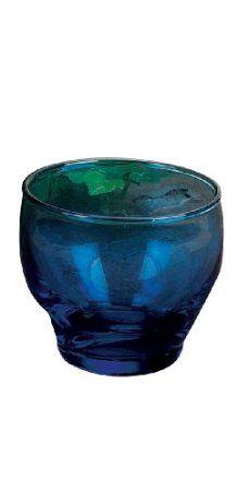 Amazon.com: Biedermann Round Glass Votive Holder, Cobalt Blue, Pack of 12: Home & Kitchen