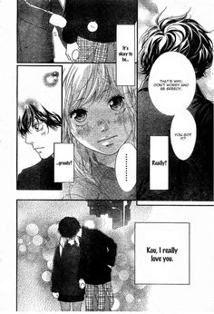 #Ao Haru Ride, Futaba and Kou, anime couple, manga couple, manga kiss, anime kiss