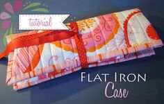 Flat or Curling Iron Travel Pouch - Free PDF Sewing Tutorial by Sherri Noel of RebeccaMae Designs.