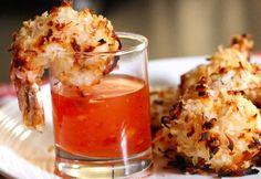 Under 200 Calories! Baked Coconut Shrimp! This shrimp has fantastic flavor, you'll have no idea it's healthy too!