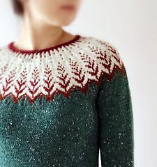 "Vintersol (""winter sunshine"") is inspired by a walk in a frosty, wintery meadow. This example is mad Fair Isle Knitting Patterns, Knit Patterns, Icelandic Sweaters, Yarn Crafts, Pulls, Knitting Projects, Hats For Women, Making Ideas, Knitwear"