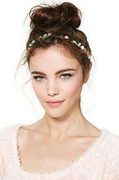 Saçlarınıza romantik dokunuşlar - 1