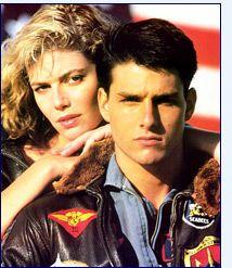 Top Gun's Kelly McGillis & Tom Cruise (1986)