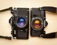 Canon EF & Olympus OM-1 | Flickr Reflex Camera, Camera Gear, Film Camera, Wonderful Machine, Classic Camera, Film Images, Canon Ef, Photography Camera, Vintage Cameras