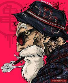 Master Roshi (Dragon Ball) (c) Toei Animation, Funimation & Sony Pictures Television Dope Art, Animes Wallpapers, Graffiti Art, Cartoon Art, Dragon Ball Z, Cyberpunk, Character Art, Anime Art, Street Art
