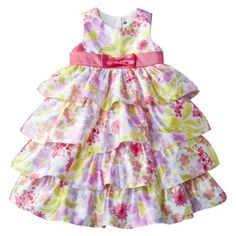 Cherokee® Infant Toddler Girls Floral Print Sleeveless Dress - Multicolored.Opens in a new window
