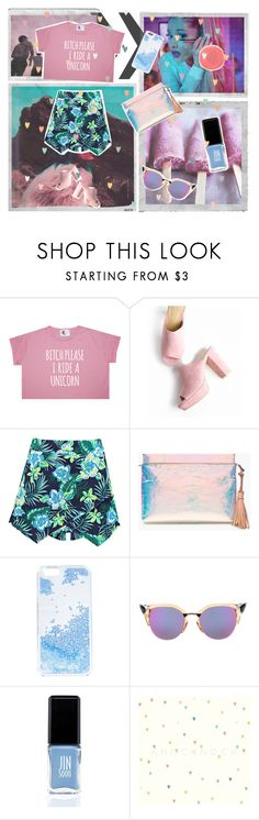 """Untitled #117"" by karimaputri on Polyvore featuring Polaroid, Boohoo, J.Crew, Skinnydip, Fendi, Rituel de Fille and JINsoon"