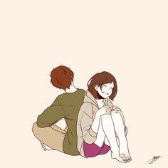 「深町なか」のイラストで女の子ならだれでもきゅん!Twitterでも人気の理想のカップルがかわいすぎるの画像