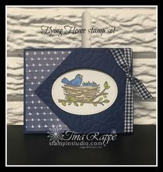 Stampin' Studio - Page 103 of 657 - Tina Rappe, Independent Stampin' Up! Fun Fold Cards, Folded Cards, Cute Cards, Cricut Cards, Stampin Up Cards, New Home Cards, This Little Piggy, Making Greeting Cards, Bird Cards