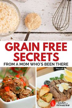 Starting a grain-free diet (or any elimination diet like gluten-free)? Take the fear out of the unknown with great tips PLUS easy grain-free Paleo/primal recipes. Primal Recipes, Dairy Free Recipes, Whole Food Recipes, Healthy Recipes, Whole30, Elimination Diet Recipes, Grain Free Granola, Keto, Paleo Diet
