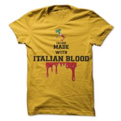 Made with Italian blood