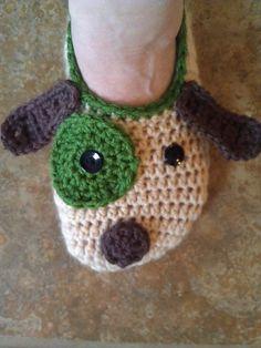 Ravelry: Ladies Puppy Slippers pattern by Jo-Anne Wilkes-Baker