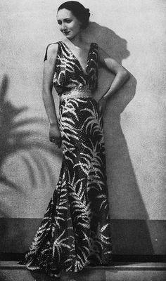 Louise Boulanger Robe du Soir 1935