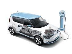 Le Kia Soul EV se distingue de ses concurrentes électriques par sa batterie Lithium ion polymère de forte capacité (27 kWh). © KIA