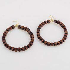 Brown Sugar Wire Hoop Earrings by JewelsByCrys on Etsy, $14.00
