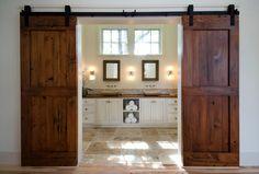 Puertas corredizas tipo granero | Decoración