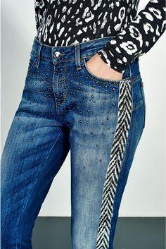 Liu Jo - Jeans - 'PRECIOUS' BOTTOM-UP TROUSERS