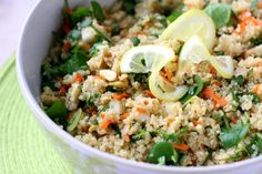 Perry's Plate: Dishing up real-food recipes and really good desserts » Sweet Lemon-Herb Quinoa Salad