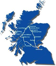 The Jacobite Highlander See, Visit & Explore: Dunkeld, The Hermitage, Cairngorm National Park, Culloden Moor, Inverness, Loch Ness, Fort Augustus, The Great Glen, Fort William, Jacobite Steam Train, Glenfinnan Viaduct and Monument, Mallaig, Glen Coe, Rannoch Moor and Callander