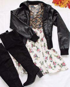 Skylar- Ivory Floral Dress