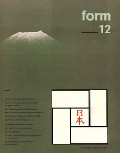 form N° 12. 1960. Cover: Sori Yanagi using a photo by Koyo Okada. © Verlag form GmbH & Co. KG