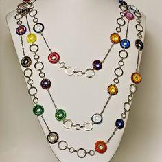 Trio Necklace Handmade Lampwork Glass Jewelry by conbriobeads, $135.00
