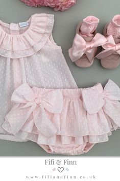 Pretty in Pink Plumeti dress and bloomers which is the perfect baby girl outfit for summer! - Baby Girl Dress - Ideas of Baby Girl Dress Baby Girl Clothes Sale, Cute Baby Girl Outfits, Baby Outfits Newborn, Cute Baby Clothes, Baby Girl Dresses, Kids Outfits, Baby Girl Patterns, Baby Clothes Patterns, Baby Girl Fashion
