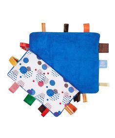 Take a look at this Blue Organic Happy Days Comfort Blanket by Snoozebaby on #zulily today!