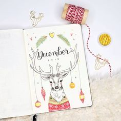 Okay I was so uninspired for December's theme. It was really frustrating. I actually wanted to do a white and gold theme but found it so… December Bullet Journal, Bullet Journal Cover Page, Bullet Journal Writing, Bullet Journal School, Bullet Journal Spread, Bullet Journal Ideas Pages, Bullet Journal Layout, Journal Covers, Bullet Journal Inspiration