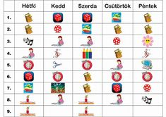 Kreatívkodásaim: Játékos órarend Crafts For Kids, Playing Cards, Clip Art, Hello Kitty, Education, Games, School, Blog, Google