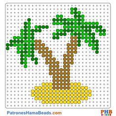 Isla plantilla hama bead. Descarga una amplia gama de patrones en formato PDF en www.patroneshamabeads.com