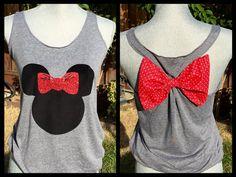 Minnie Mouse Silhouette Disney Tank Top van MissBiziBee op Etsy