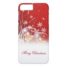 "Beautiful festive ""Merry Christmas"" illustration iPhone 7 Plus Case"