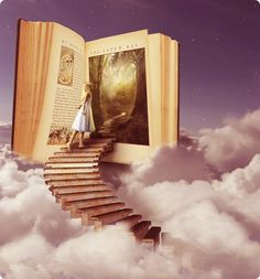 fantasy world ~ book art I Love Books, Books To Read, My Books, And So It Begins, World Of Books, Another World, Book Nooks, Conte, Love Reading