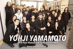 Yohji Yamamoto avec son équipe 2018