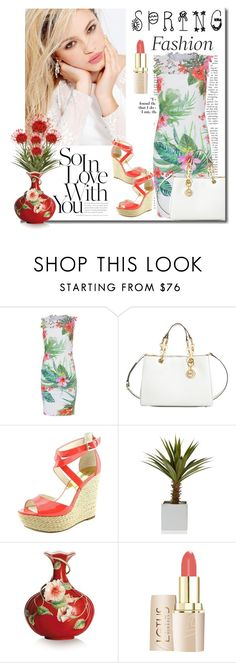 """""""Spring Fashion"""" by defineyourstyle ❤ liked on Polyvore featuring Elie Tahari, Silvana, MICHAEL Michael Kors, Franz Collection, michaelkors, spring2016 and tropicalprintdresses"""