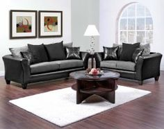 Mulberry Graphite 2 PC Sectional Sofa Living Rooms