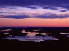 Iijärvi lake in Kuusamo, Finnish Lapland
