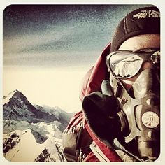 """""""""""@emilyaharrington self portrait at the top of the world - 8848m Mt Everest. What a climb it's been! #oneverest"""""""""""