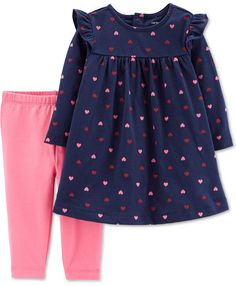 Your little one will love her look this spring when she wears the carter's Heart Dress Legging Set. Adorable long-sleeve heart dress and coordinating pink leggings offer a cute, colorful look that is perfect for any occasion. Baby Girl Dresses, Baby Dress, The Dress, Toddler Outfits, Kids Outfits, Baby Outfits, Carters Baby Girl, Baby Girls, Toddler Leggings