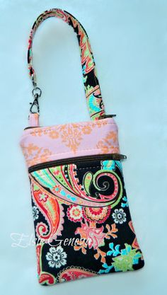 Ready to Ship Brown  Paisley & Pink and Peach by elsiegeneva, $30.00