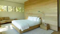 Modern room in wood