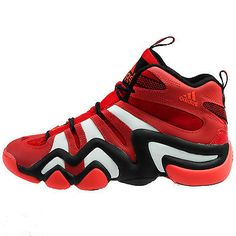 Adidas Crazy 8 Mens G20784 Red Black White Basketball Shoes Sneakers Size 10