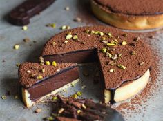 I made this delicious, homemade, dark chocolate tart (or should I say dark chocolate tartlets) with a silky cacao glaze and pistachios for my grandad's birthday last weekend. It is really easy to make, easier than it looks. It's made with homemade tart shells with the most flaky crust ever. We always use this recipe and we absolutely love it. This chocolate tart is unbelievably rich in flavor, silky and the chocolate literally melts in your mouth (it doesn't get any better). It can be served…
